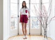 Alexia short rouge cerise