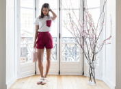 Alexia short rouge cerise