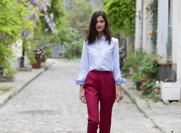 Pantalon Adénorah Rouge cerise