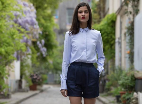 Short Alexia blue jean