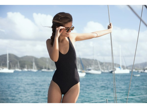 Swimsuit Camille Black One Piece