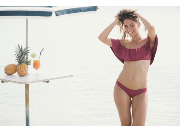 Red Swimsuit two pieces Diane