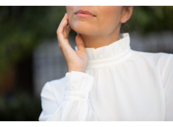 Blouse Daphnée blanche