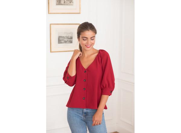 Red blouse Daphnée