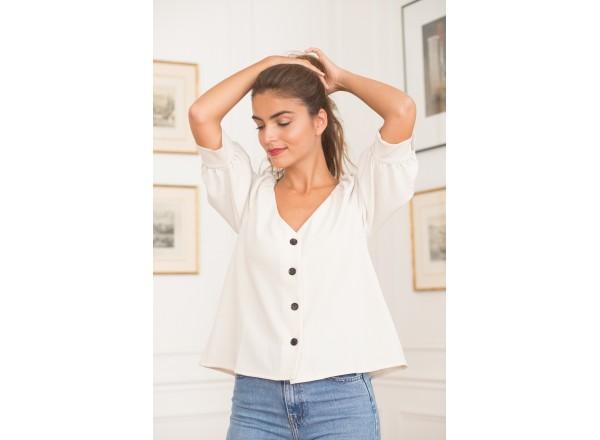 Ecru blouse Daphnée