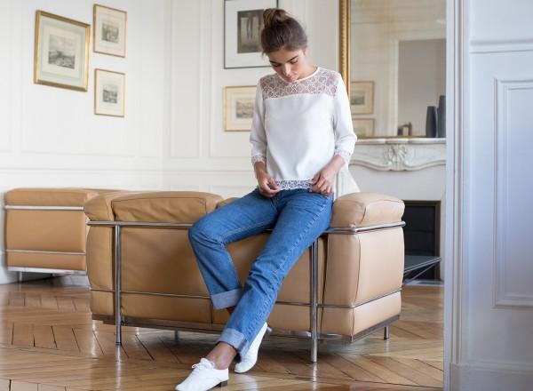 White blouse Dalida