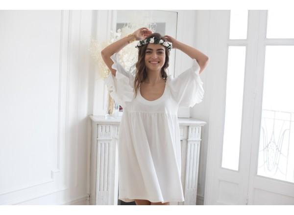 Robe Carmen blanche