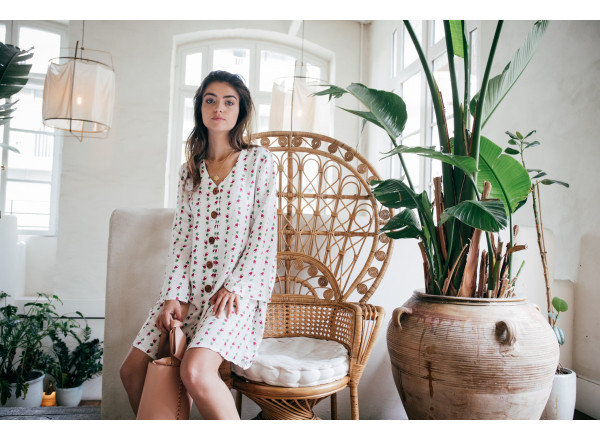 Estelle dress with mexican print