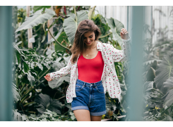 Elodie shirt with mexicana print