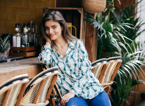 Elodie shirt with palma print