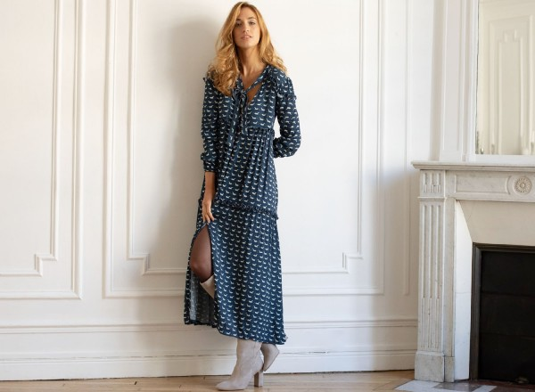 Edmée long dress printed cavallo