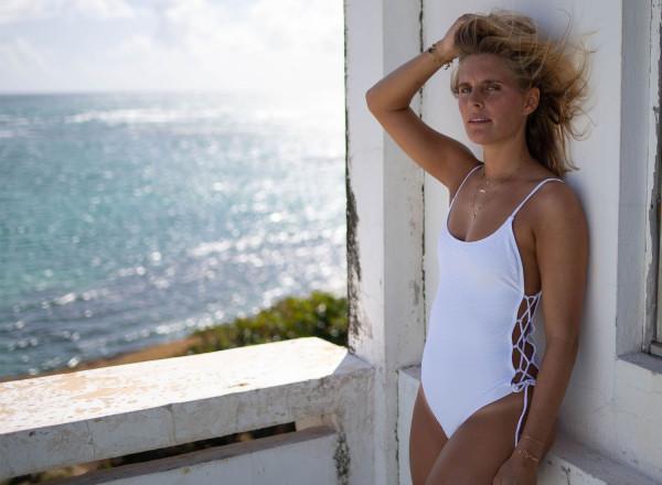 Felicia White One Piece Swimsuit