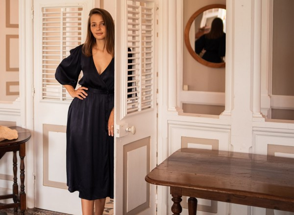 Navy blue Hida dress