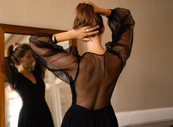 Robe Henriette noire