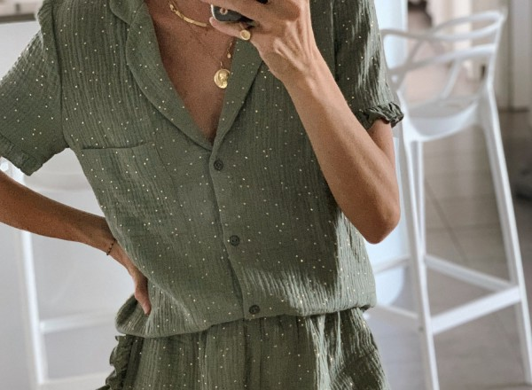 Pyjama vert Olga