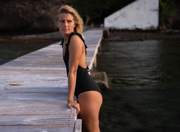 Black Chloé one-piece swimsuit