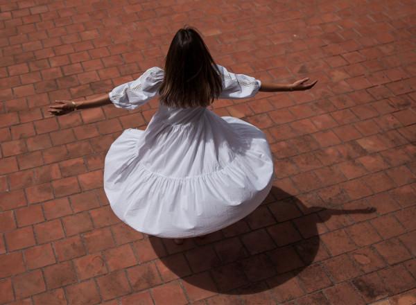 White Paulette dress