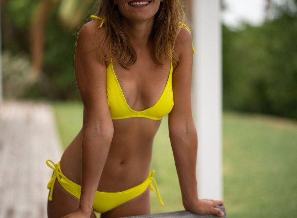 Haut de maillot françoise jaune