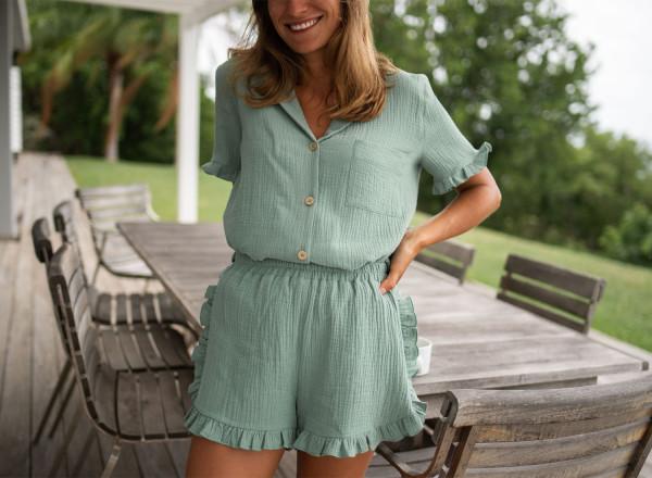 Olga green pajamas