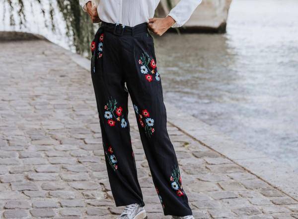 sasha floral pants