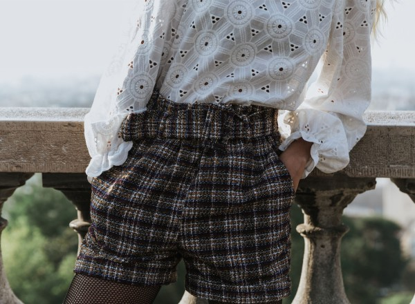 Jules Tweed Shorts orcher