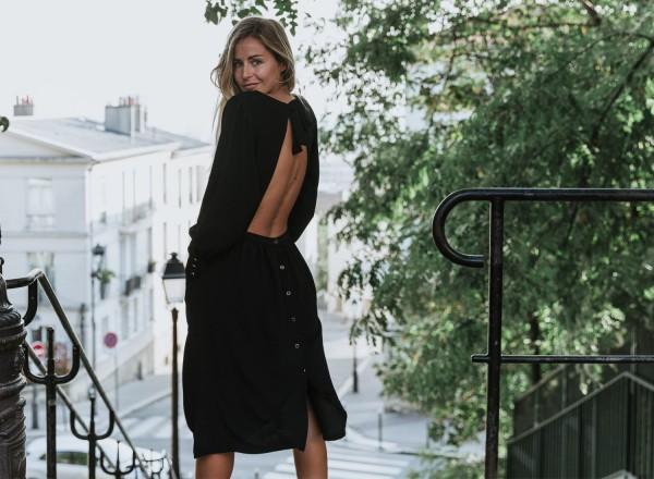 Robe noire Suzanne