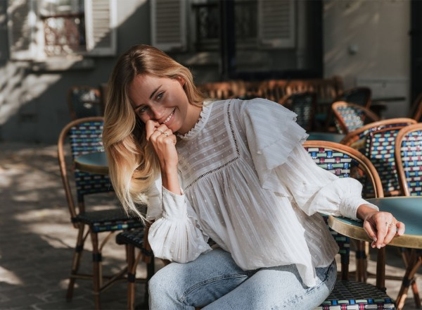 White Louise blouse