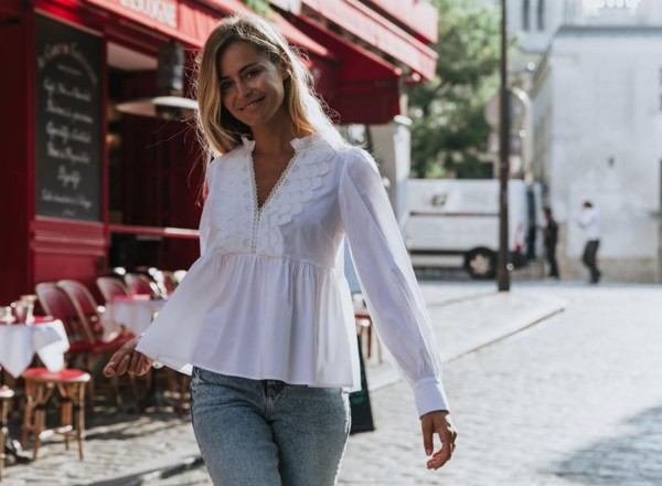 White Huguette blouse