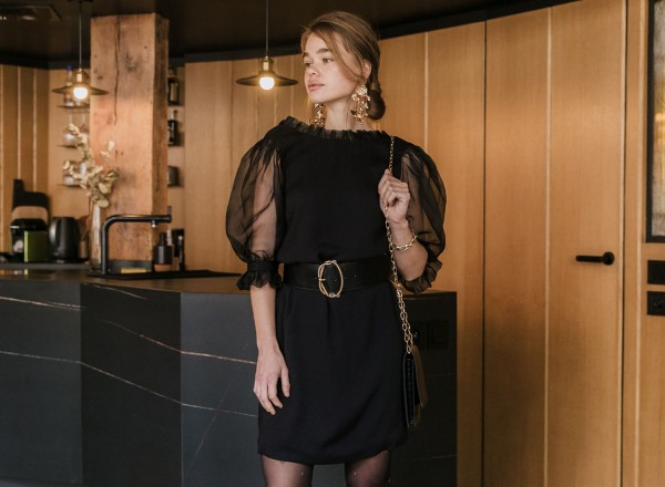 black Hortense dress
