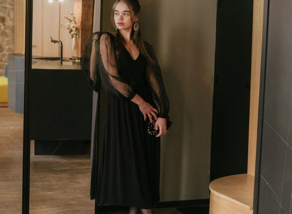 Henriette black dress