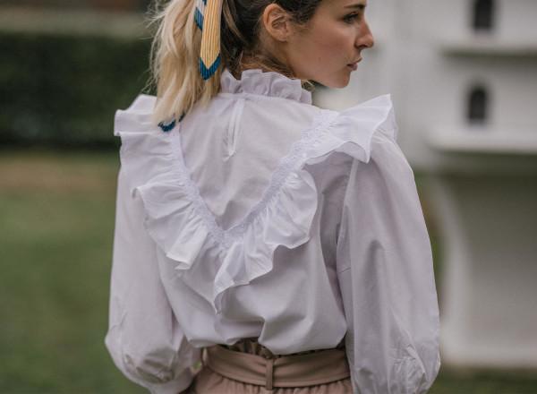 White Emeline blouse