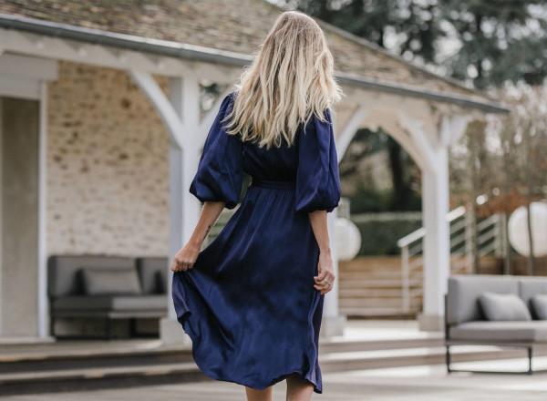 Navy blue Hida dress