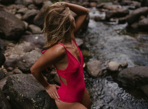 Chloé Vichy one-piece swimsuit