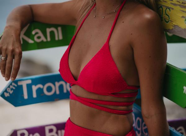 Haut de maillot Sandy rose