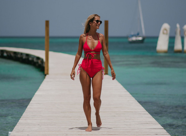 Sandy pink bikini top