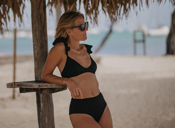 Iris black bikini top