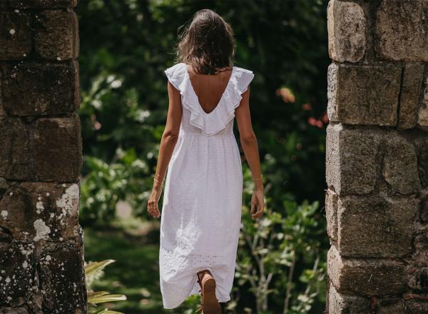 Robe Stéphanie blanche