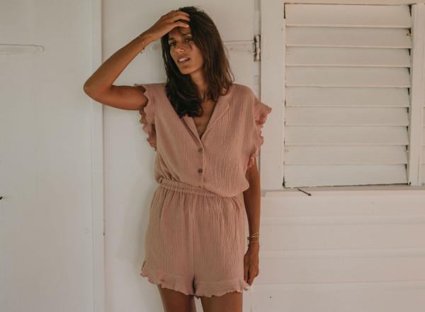 Powder pink pajamas Olga
