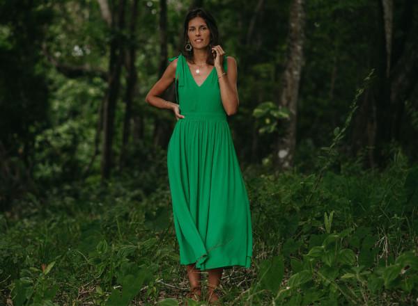 Green Adèle dress